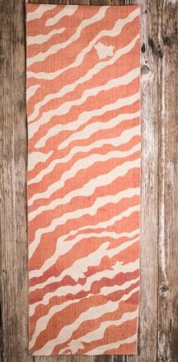 châle pure laine imprimé teinture végétale rose zebra