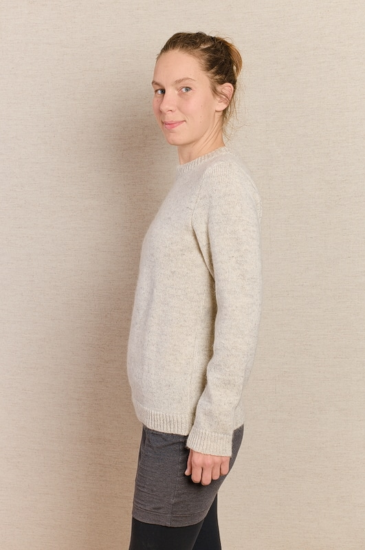 pull col rond mohair blanc femme homme
