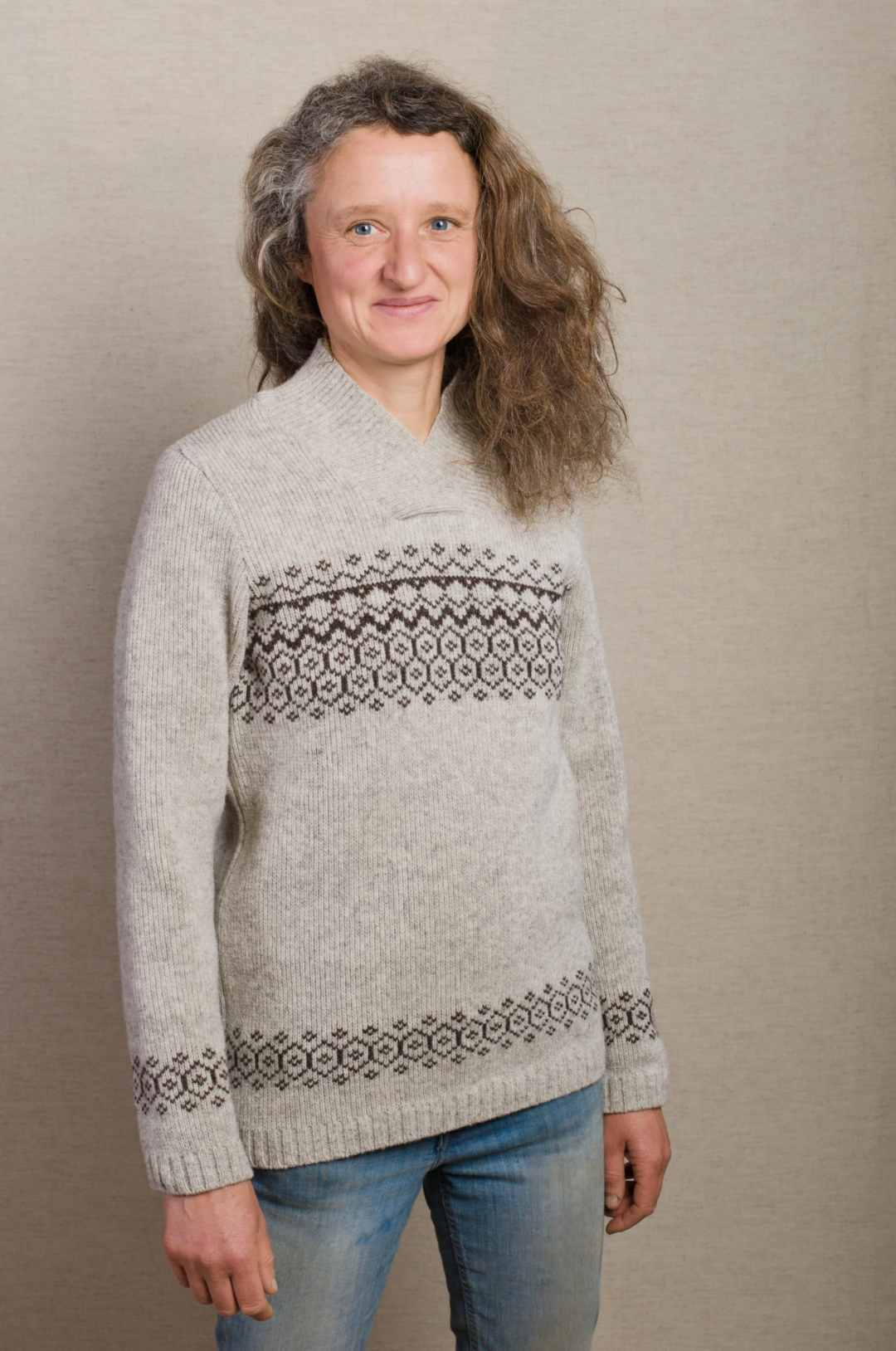 pull laine jacquard femme