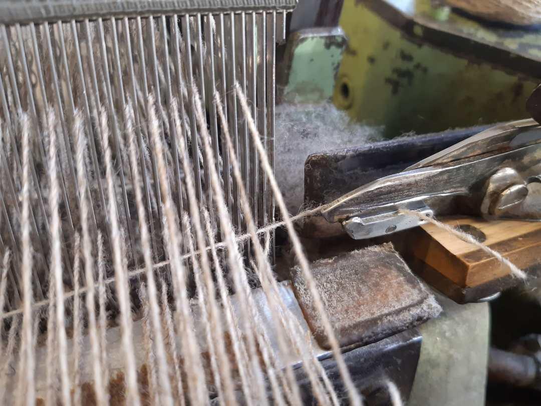 tissage tissus laine