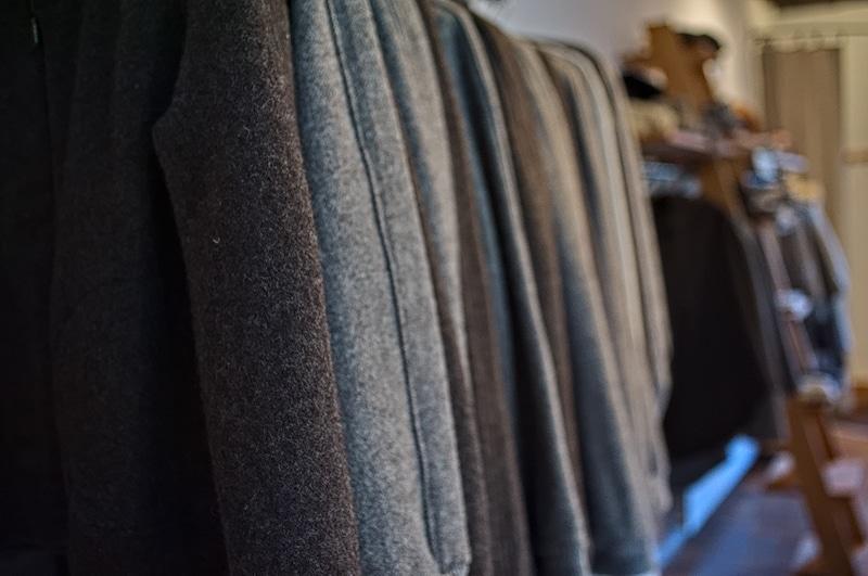 surjet tissus laine veste confection