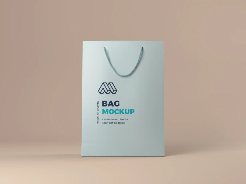 Very easy to use, with smart object layers place your own design. Free Present Or Shopping Bag Mockup Amockup Com