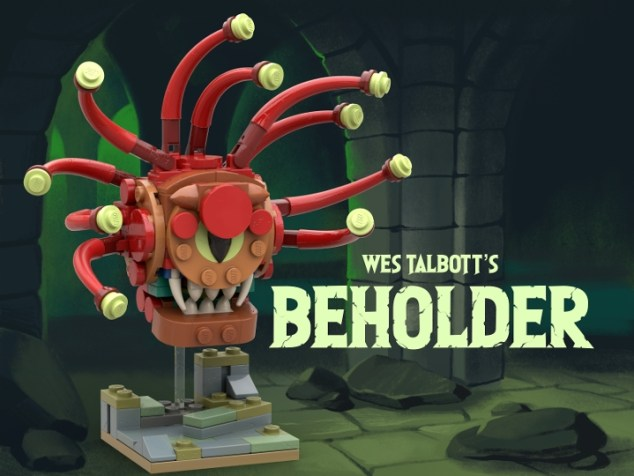 This is a Beholder miniature I build to be compatible with Dungeons & Dragons. It is based on a 3x3 module grid so it fits on your standard d&d grid even if you don't build an entire board from LEGO.