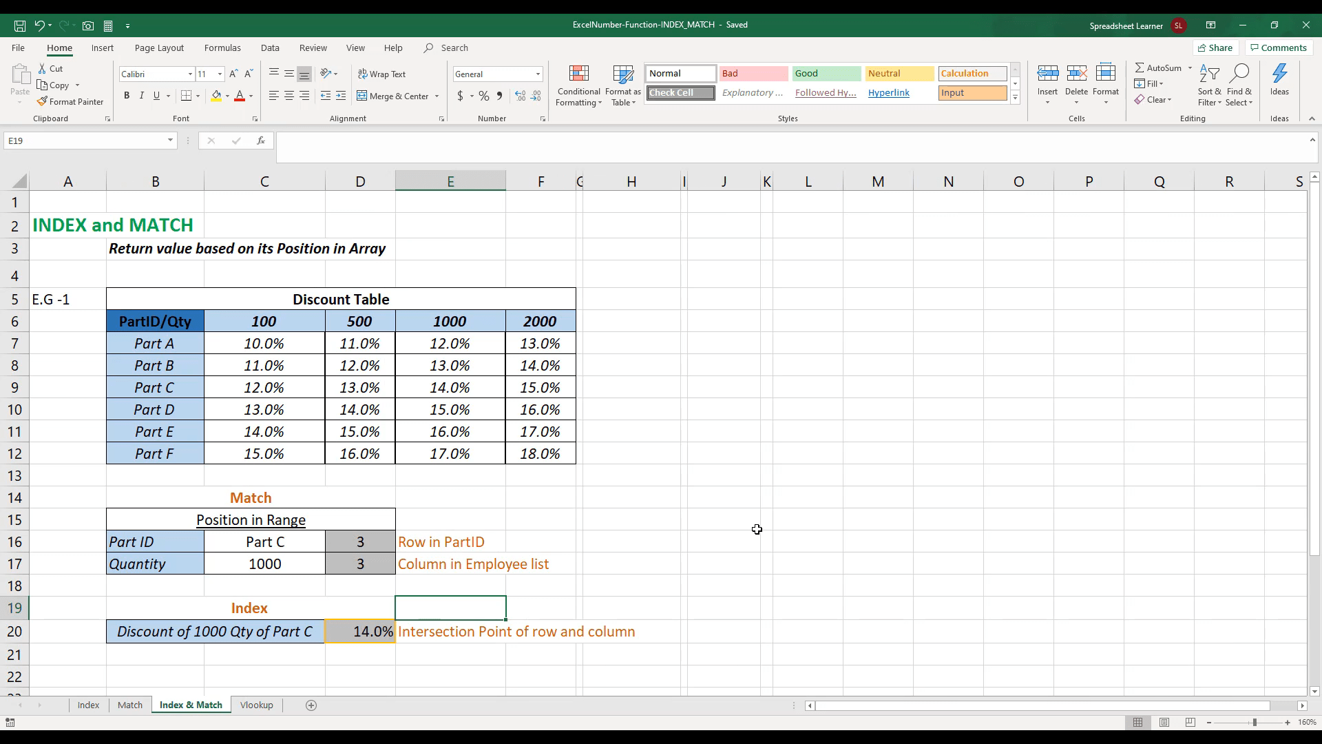 Create Formula With Index Amp Match In Excel No Vlookup