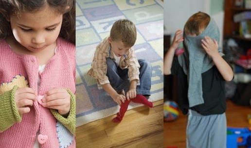 Kết quả hình ảnh cho trẻ tự mặc đồ