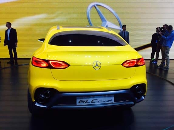 Mercedes Benz Concept GLC Coupe Rolls Into Shanghai