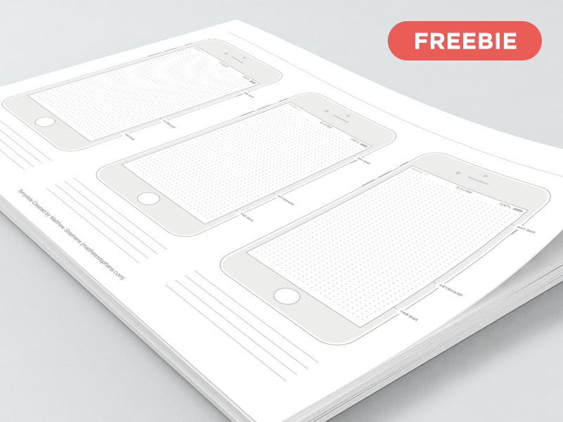 Top 16 Free iPhone Wireframe Templates  PSD  Sketch    PDF  Free Printable iPhone 7 Templates