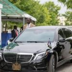 Have a look at President Buhari's official car Mercedes Benz S-class 550, 2015 model. >> See Photos & Video