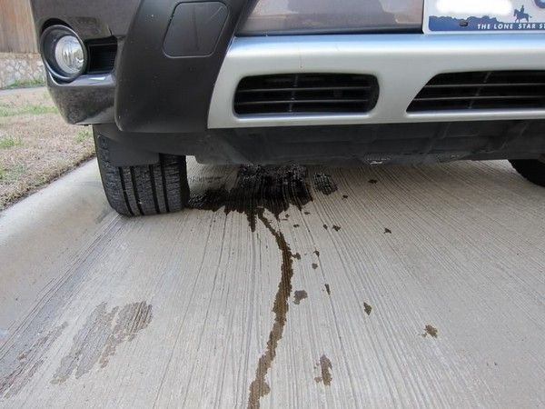 Oil leaking from a car
