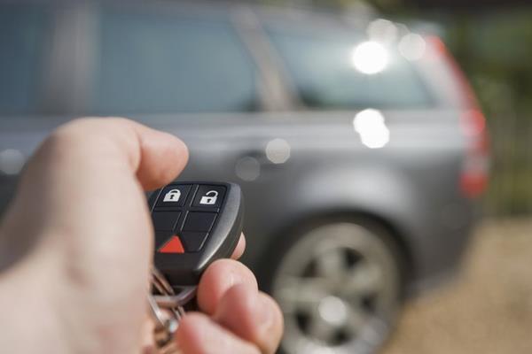 Using car remote key