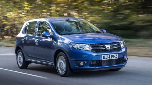 The Dacia Sandero 2013 angular front - one of the most fuel-efficient used diesel cars