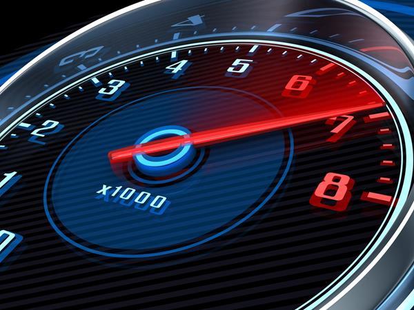 a tachometer