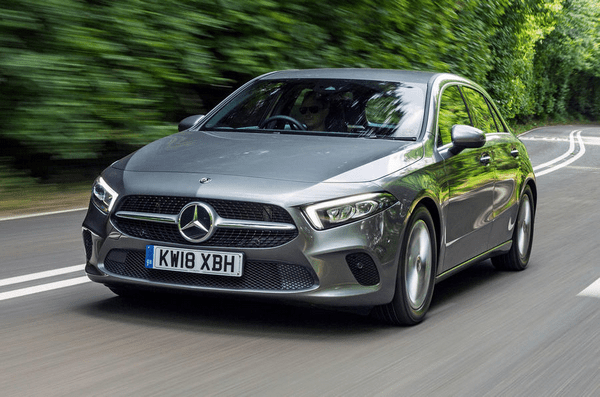 Angular front of the Mercedes-Benz A-Class