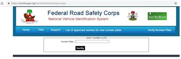 FRSC website screenshot