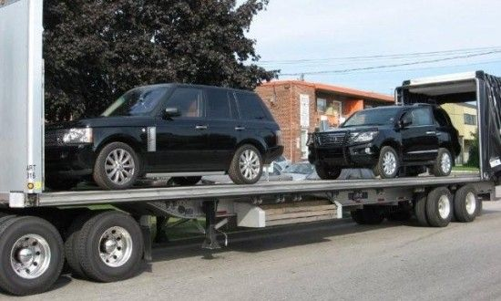 Bola-Tinubu-armored-vehicles-being-shipped-on-a-container-truck