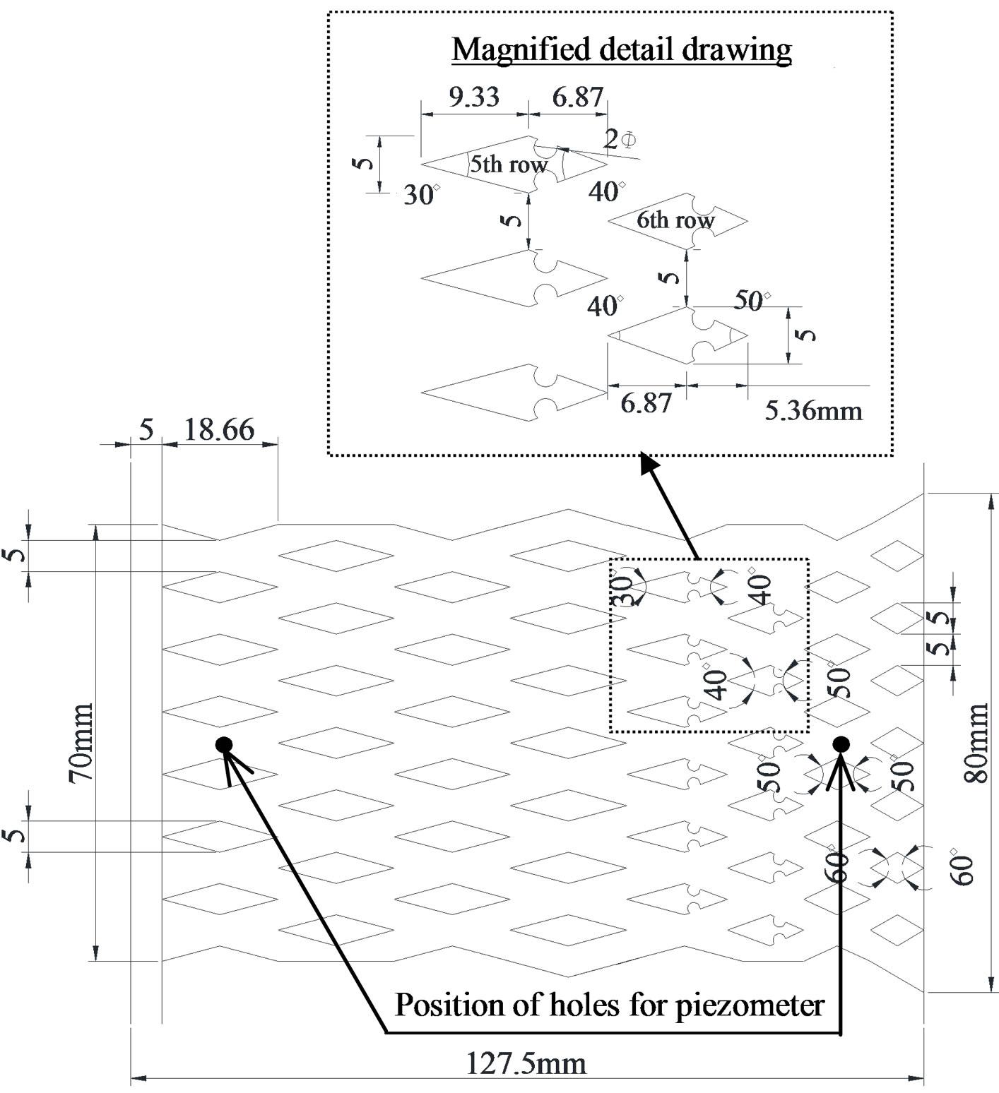Flip Flop Flow Control Inside Streamwise Diverging Diamond