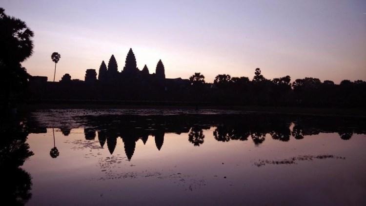 柬幣(Riel)上的吳哥風景