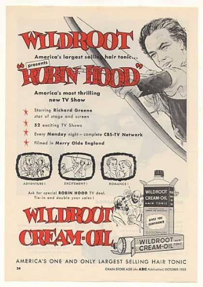 Robin Hood TV Show Wildroot Cream Oil Trade (1955)