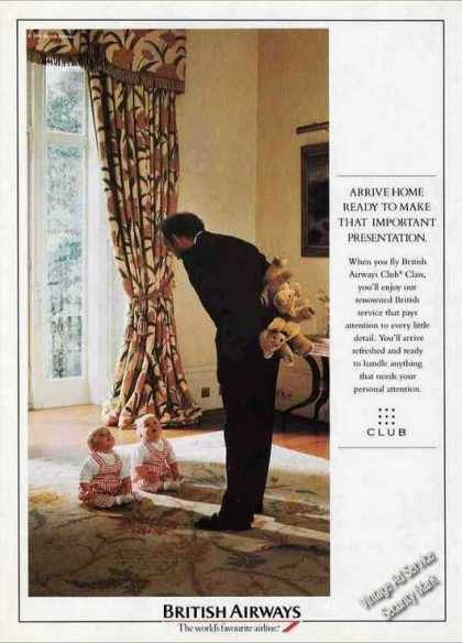 British Airways Club Class Clever Twin Babies (1992)