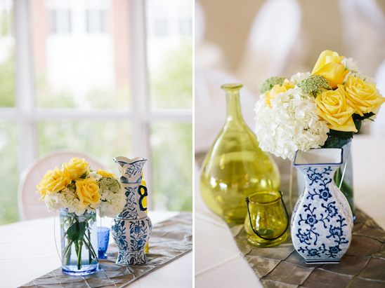 Blue White And Yellow Table Decoration Ideas