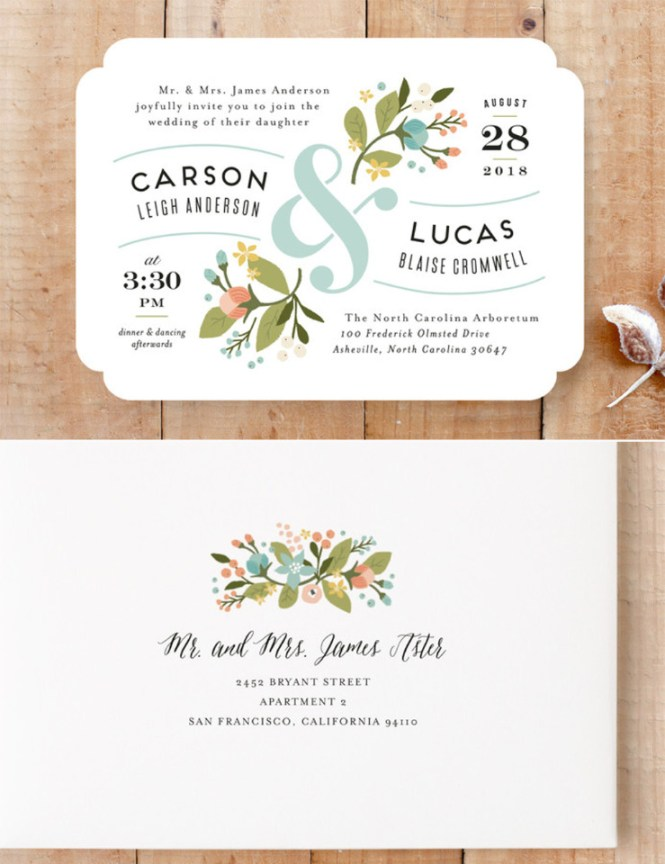 Super Cute Free Wedding Websites From Minted
