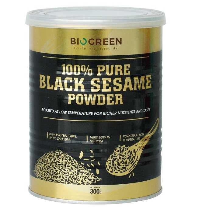 Biogreen 100% 純黑芝麻粉--香港有機食品店 嚴選歐美產品 真正有機健康 | Organic Plus