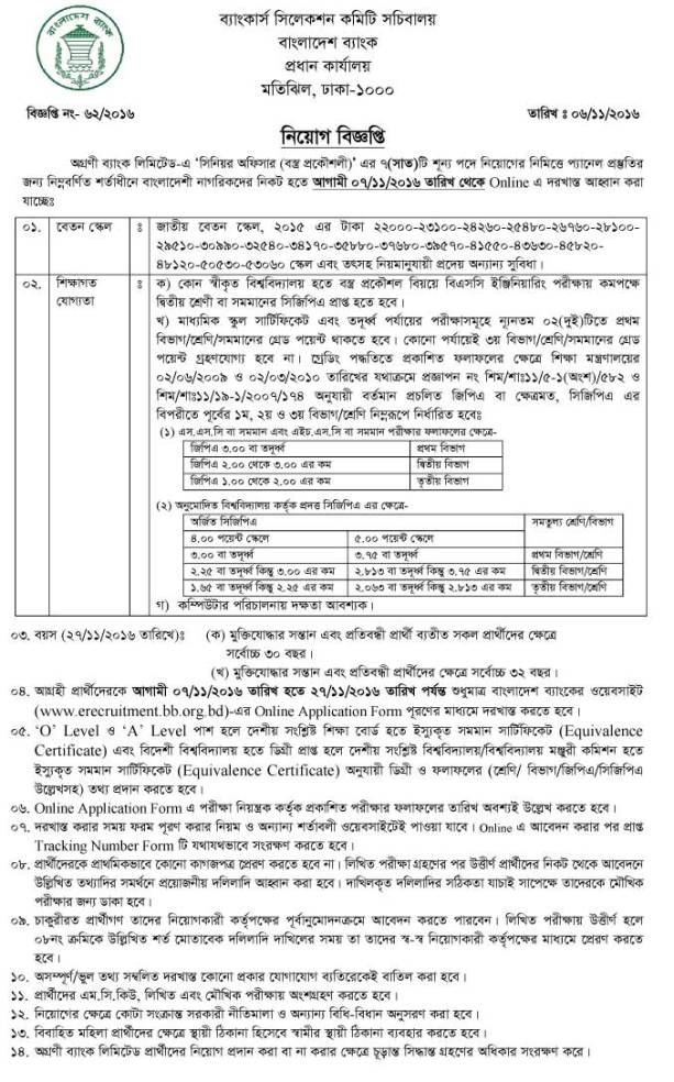 Agrani Bank Limited Job Circular