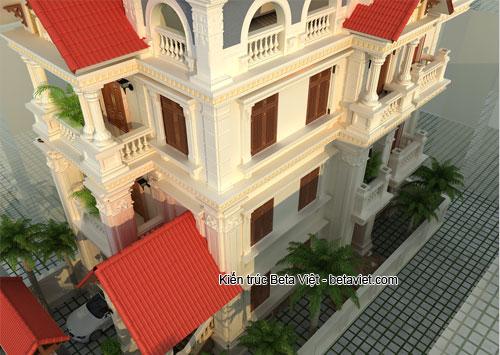 Biệt thự cổ điển nhìn từ trên cao