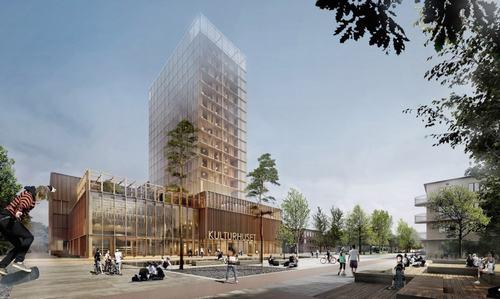tòa nhà bằng gỗ