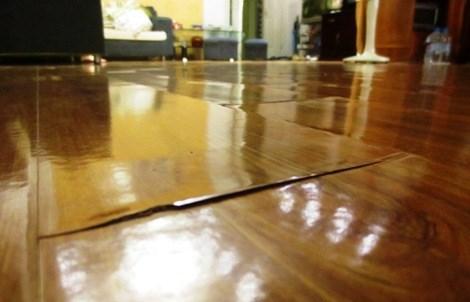 tác hại khi sàn gỗ cong vênh