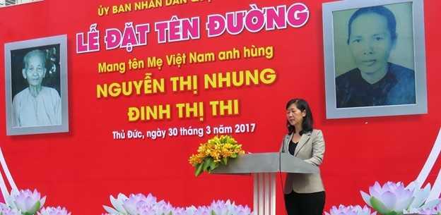 """Tp.HCM đặt tên đường mang tên mẹ Việt Nam anh hùng tại KĐT """"tỷ đô"""""""