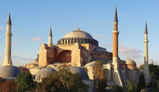 The Hagia-Sophia in Istanbul.