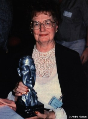 Andre Norton at World Fantasy Con in 1987.