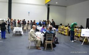 The Library in Loncon 3's Fan Village.