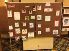 Both panels of the Rotsler Award display. Photo by Kenn Bates.