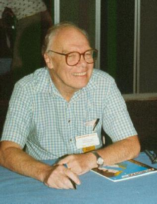Hal Clement at ConFiction (1990). Photo by Frank Olynyk. From Fanac.org site.