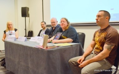 """Military SF: continuity and change."" with Ashley Pollard, Rohan Shah, Joe Haldeman, Jean Johnson and Myke Cole."