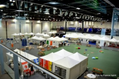 Overview of the Fan Village at Loncon 3.