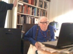 John King Tarpinian took this photo as Ray was watching his namesake video for the very first time.