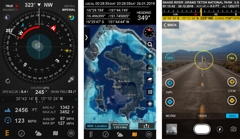 Compass 54 Pro (All-in-One GPS, Weather, Map, Camera) v2.4
