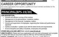 KRL Institute of Technology Kahuta Job 2019 Principal Required