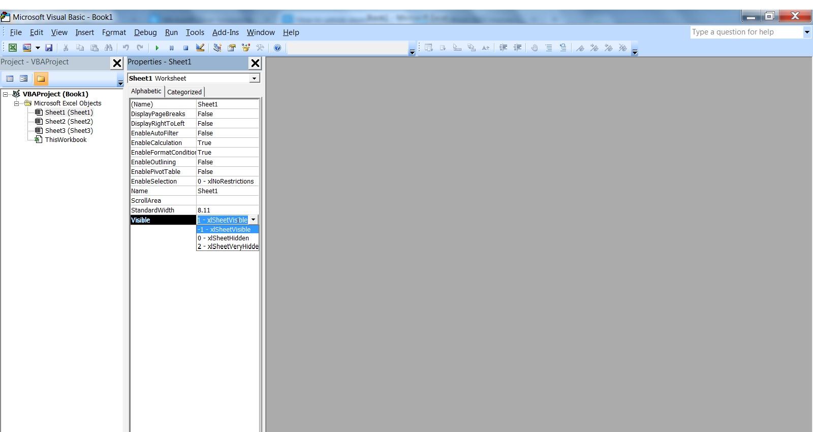 Unhide Worksheet In Excel