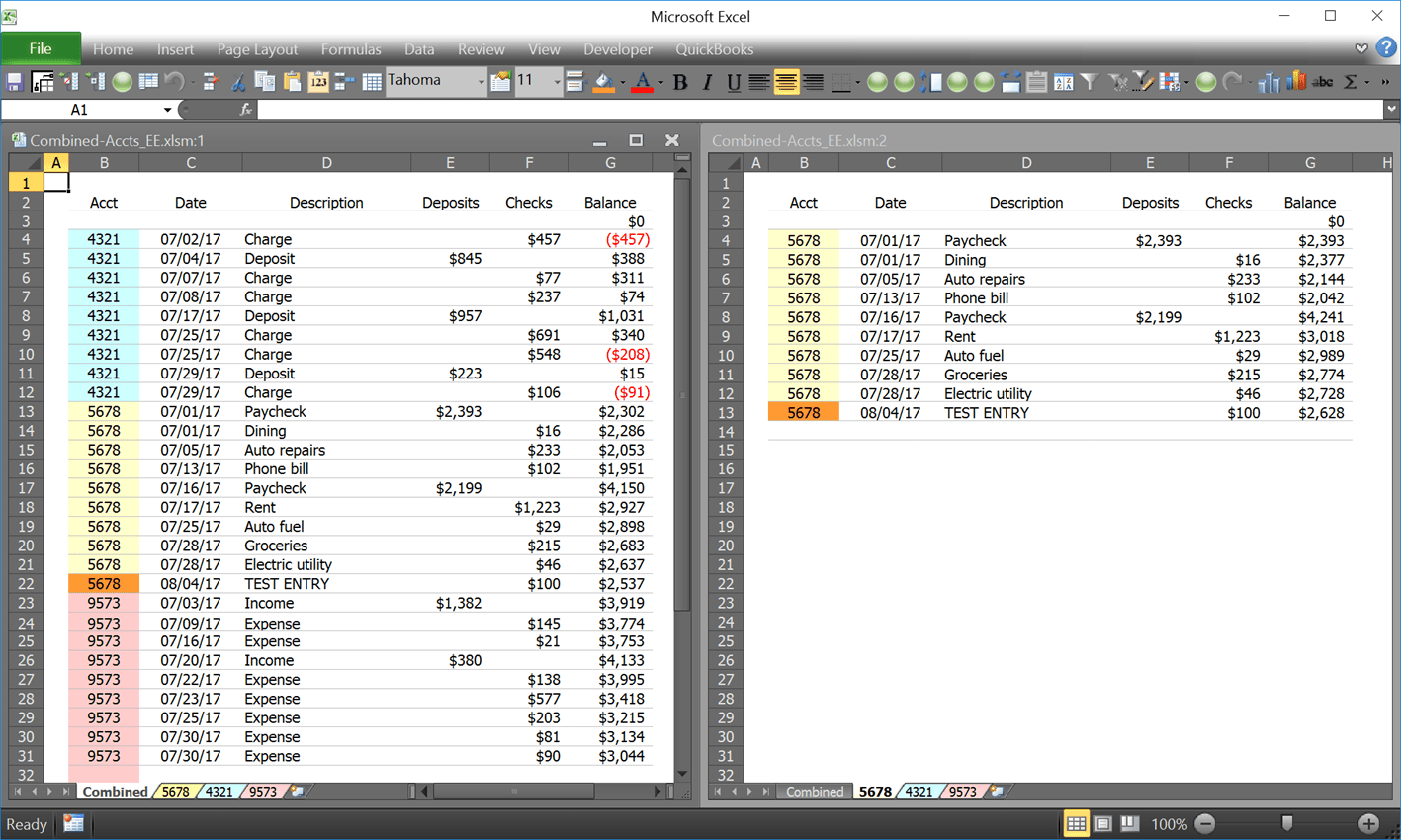 Combine Multiple Sorted Excel Worksheets To A Single
