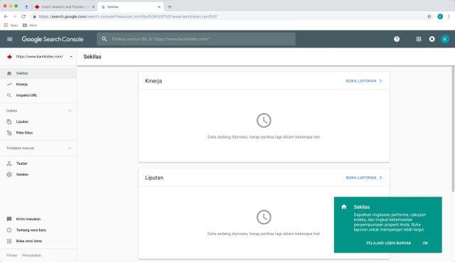 google webmaster tools tutorial terbaru