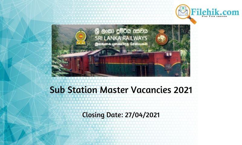 Sub Station Master – Sri Lanka Railways 2021 Opportunities
