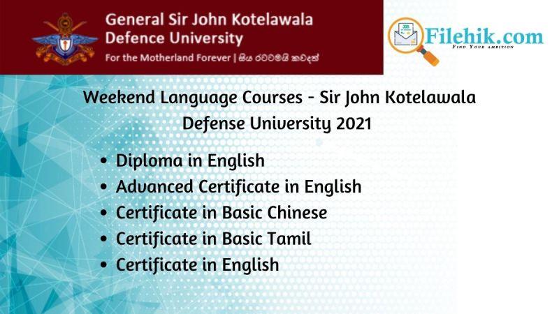 Weekend Language Courses