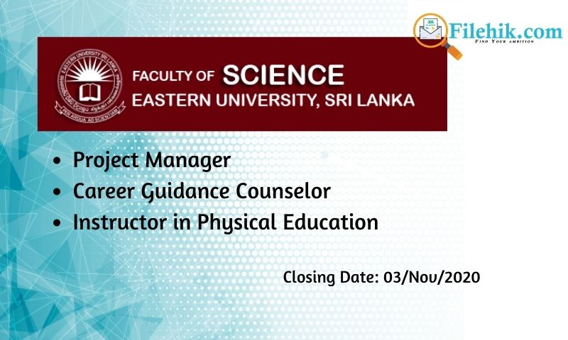 Project Manager, Career Guidance Counselor, Instructor In Physical Education