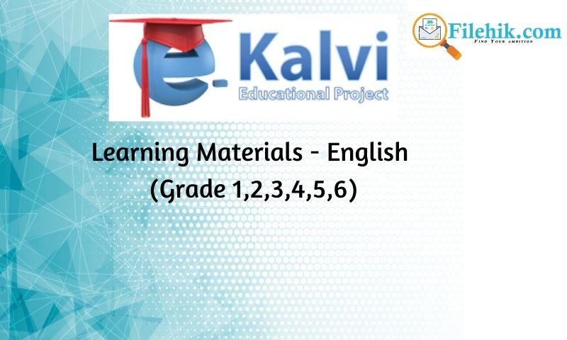 Learning Materials – English (Grade 1,2,3,4,5,6)