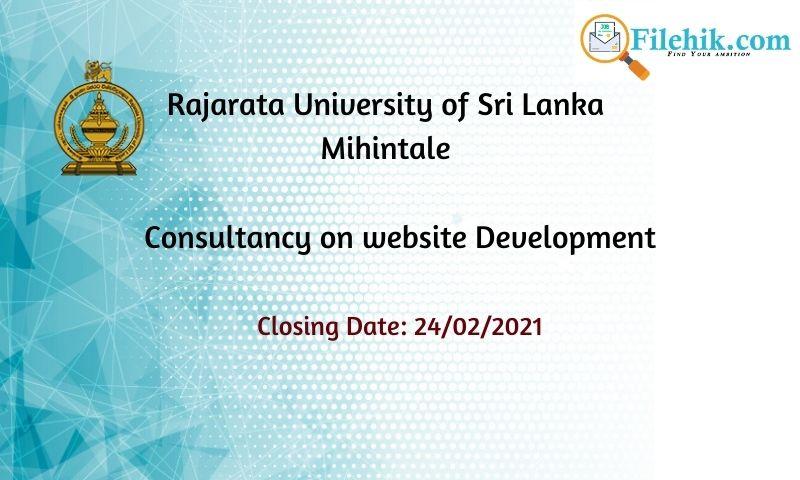 Consultancy On Website Development –  Rajarata University Of Sri Lanka