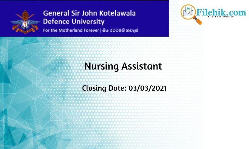 Nursing Assistant – University Hospital
